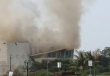 Cháy Trung tâm văn hóa Quảng Bình