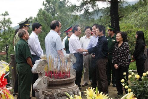 Ông Võ Điện Biên - con trai cả của Đại tướng thay mặt gia đình cảm ơn đến Đảng bộ, nhân dân và lực lượng vũ trang tỉnh Quảng Bình