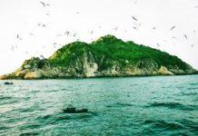 Hình ảnh Đảo Yến được chụp khi ngồi trên thuyền
